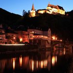 Vianden by night at the backside Hotel Petry