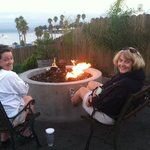Enjoying the fire pit.