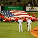 Military appreciation night at the Blue Wahoos game.