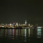View of Manhattan at night from the pier (also view from rooms at the END of the pier; not on si