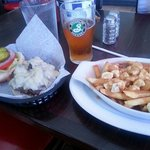 Real poutine and local beer only a few blocks away