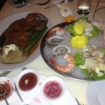 Copper Rock Seafood Tower and Prime Rib