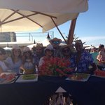 Lo staff del bel air in spiaggia