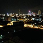 View from the 12th floor at night over Melaka