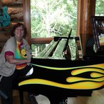 At Jerry Lee Lewis's piano