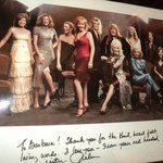 A picture of the country divas autographed in the mansion
