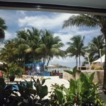 View from The World Cafe buffet, on family pool side
