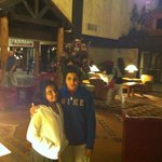 Kids at the lobby of Tenaya Lodge