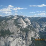 A view of the mountains in Yosemite National Park