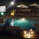Movie night at the outdoor pool