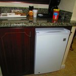 Refrigerator in room