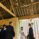 Ceremony in front of the Barn Window