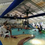 The indoor water park allows the party to continue if rain attempts to ruin your day at the beac