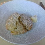 OMG scone with peaches