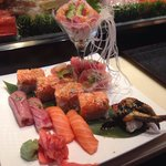Yummy Roll, T and T roll, Toro, and misc sushi.  So delicious and beautiful.