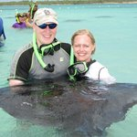 swimming with stingrays in the Atlantic