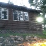 The front of our wonderful cabin
