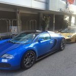Arab plated play toys parked in front of the hotel