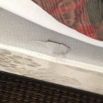 Hole in mattress