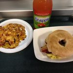 Bear Claw (AMAZING)& breakfast bagel from Happy Snack Bar