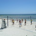 My husband loved the daily beach vollyball going on.