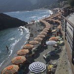 The beaches at Monterosso