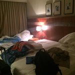 The room we were given to clean up despite checking in at 1am we had to check out at 11am.