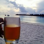 Sunset and beer