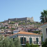 View of Molyvos Castle from Pool