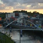 The beautiful River Boyne & De Lacy pedestrian bridge