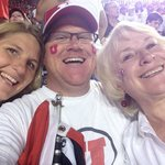 Having fun at the Game with my wife and Mom