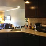 Kitchen and Living Room of 2BR