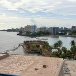 View of Condado area and lagoon from east rooms