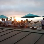 Rooftop terrace at sundown