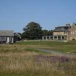 Clubhouse and golf hotel.