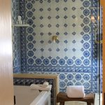 Tiled shower.