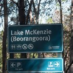 Entrance to Lake McKenzie