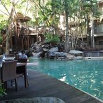 Dining beside the pool