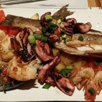 Mix seafood dish for 2