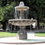 Water fountain in Place des Voges park