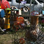 Some of the outdoor yard decorations sold at Renningers