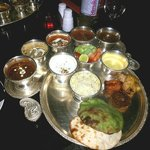 The thali at the Skydeck at Gateway, Agra