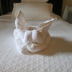 towel art surprise on our bed