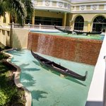 Waterfall between lobby and guest rooms.