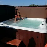 Hot Tub at Whitecairn Holiday Park