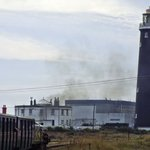 The lighthouse viewed from the Romney Hythe and Dymchurch miniature steam railway