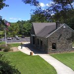 Picnic shelter and parking lot
