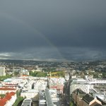 View from room (with rainbow)