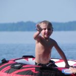 kids enjoying floating on the tube!  great for all ages!