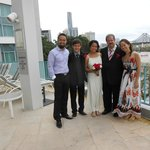 The ''newlyweds'' and their lovely children